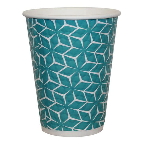 4ACES Double Wall Paper Cups Blue Diamond