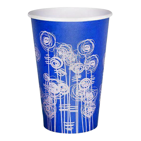 4Aces Paper Water Cups 7oz / 2000 Cups Blue Swirl Water Cup