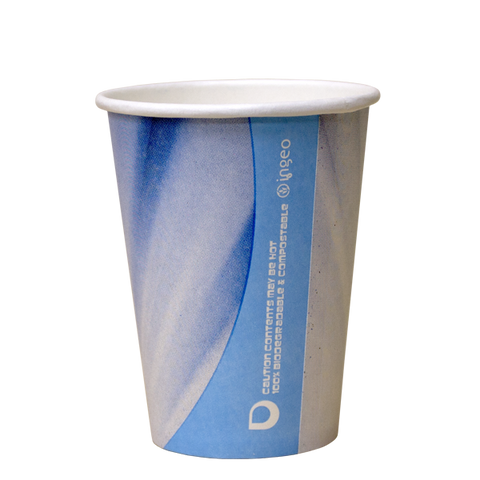 Dispo Vending Paper Cups 7oz Tall Prism Compostable Vending