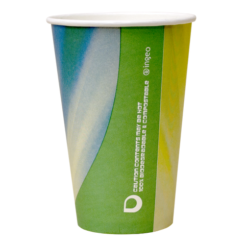 Dispo Vending Paper Cups 9oz Prism Compostable Vending