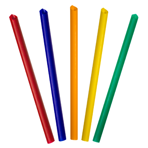 H Pack Paper Straws Mixed / 250 Straws Coloured Plastic Smoothie Straws