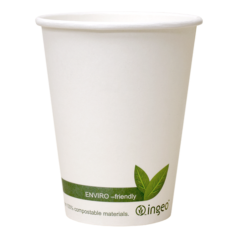 Dispo Compostable Paper Cups Ingeo Compostable White