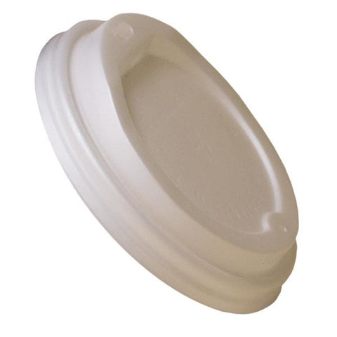 Dispo Sip Thru CPLA Lids Ingeo White Compostable Lids