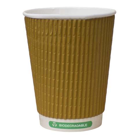 H Pack Ripple Wall Paper Cups Bio Triple Kraft Ripple