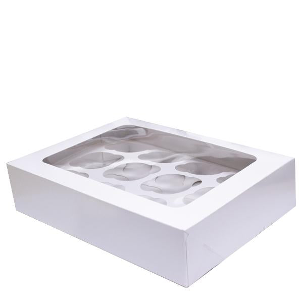 H Pack Container 12 Cup / 100 Boxes Muffin/Cupcake Box 12 Cup