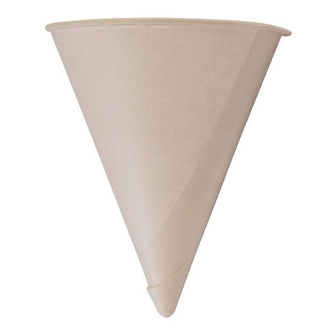 H Pack Water Cones 4oz / 5000 Cones Biodegradable Paper Cones
