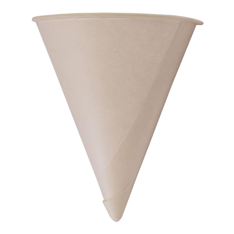 Paper Cups Direct Water Cones 4oz / 5000 Cones White Paper Cones