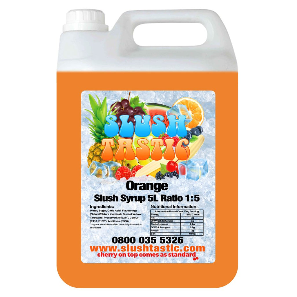 Slushtastic Syrup 5L Orange