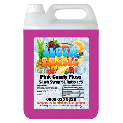 Slushtastic Syrup 5L Pink Candy Floss