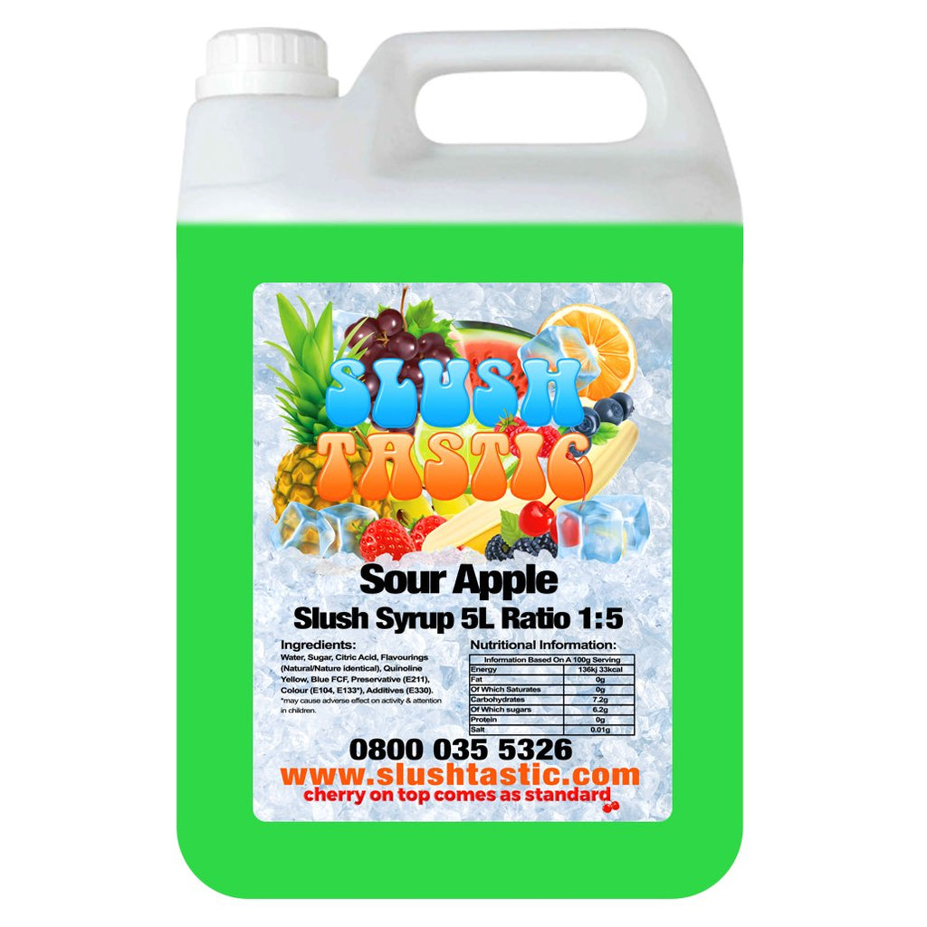Slushtastic Syrup 5L Sour Apple