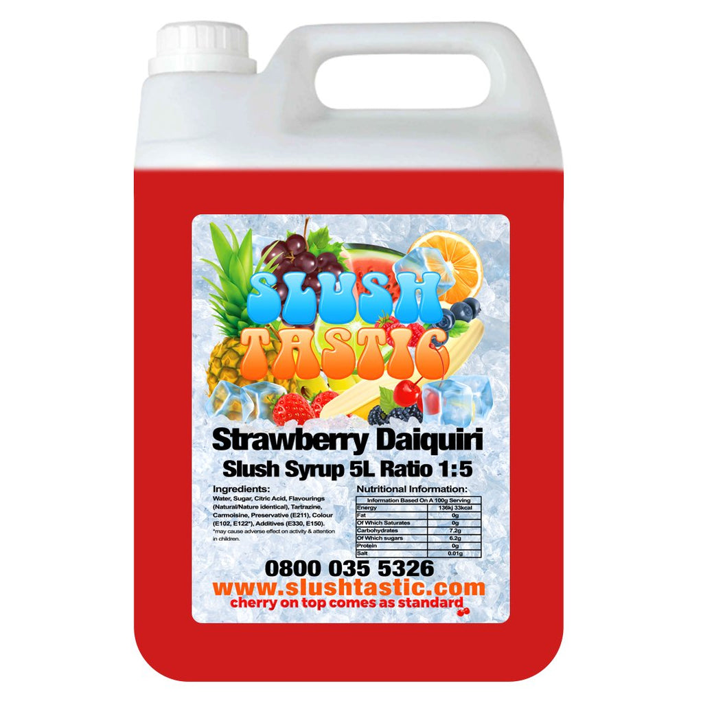 Slushtastic Syrup 5L Strawberry Daiquiri