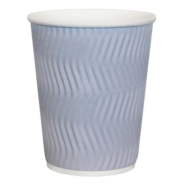 H Pack Ripple Wall Paper Cups White ZigZag Ripple Wall