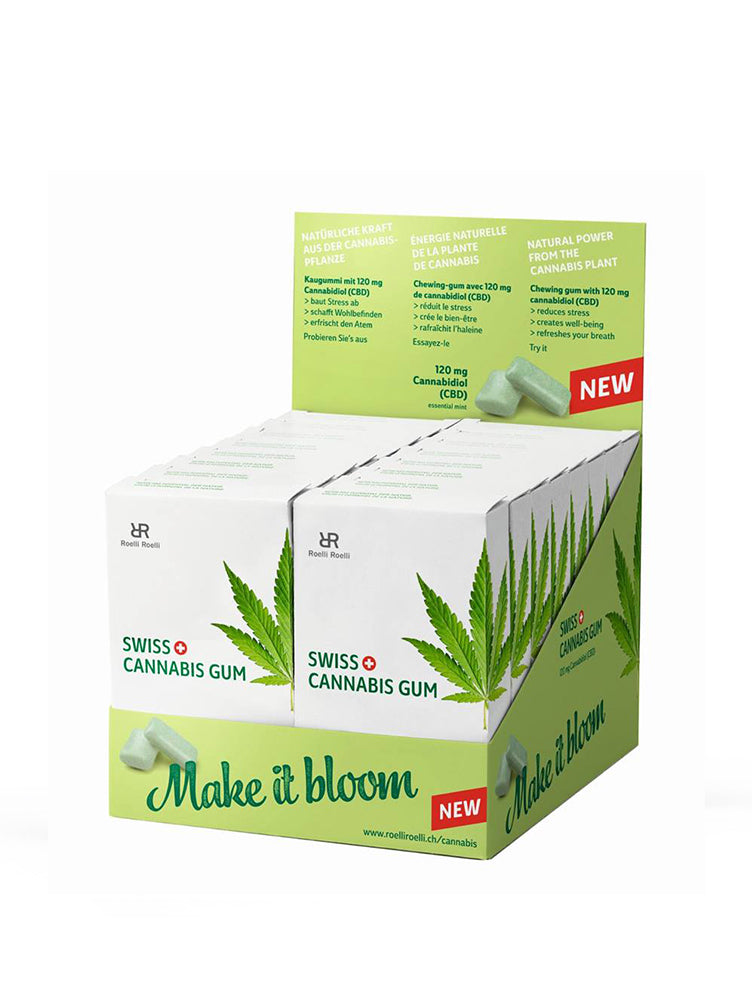 Swiss Cannabis Gum Display