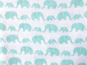Organic Muslin Burp Cloth & Bib – Elephant Parade