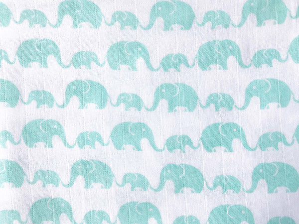 'Elephant Parade' Organic Muslin Burp & Cloth Bib