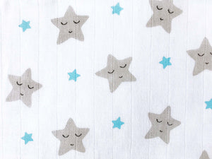 'Sleepy Star' Organic Muslin Blanket (Blue)