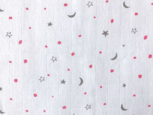'Sleepy Star' Organic Muslin Classic Bibs (Pack of 3) (Pink)