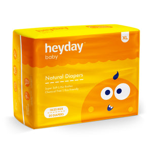 Heyday Organic & Plant-Based Baby Diapers (Pack of 20)
