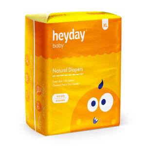 Heyday Organic & Plant-Based Baby Diapers (Pack of 50)