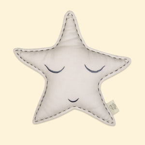 Organic Shape Cushion - Sleepy Star (Blue)