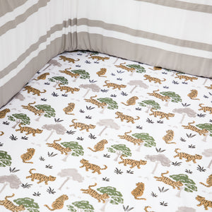 Organic Cotton Fitted Cot Sheet – Born To Be Wild