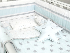 Mini Cot Set – Sleepy Star (Blue)