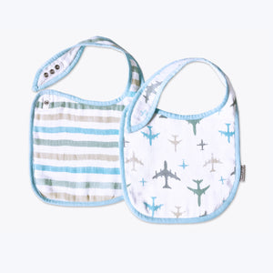 'Dream Wings' Organic Muslin Classic Bibs (Pack of 2)