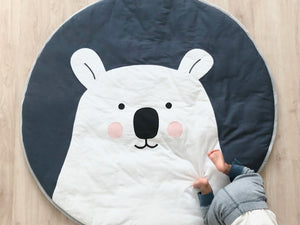 Indoor/Outdoor Quilted Play Mat – Polar Bear