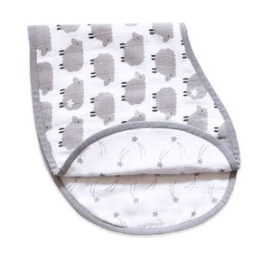 Organic Muslin Burp Cloth & Bib – Counting Sheep