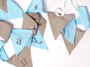 Triangle Bunting (Blue/Grey)