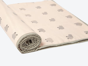 Mulmul Dohar Blanket – Counting Sheep (Peach)