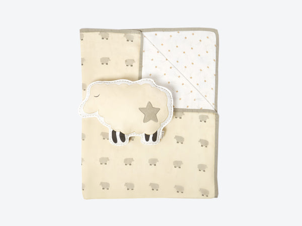 'Counting Sheep' Tuck Me In Gift Bundle (Cream)