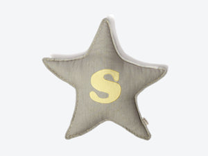 Monogram Star Cushion