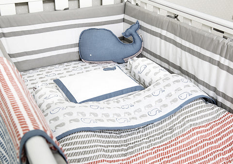 'Mama Whale' Organic Cot Bedding Set