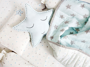 Cot Bedding Set – Sleepy Star (Blue)