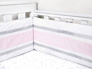 Organic Cotton Fitted Cot Sheet – Sleepy Star (Pink)