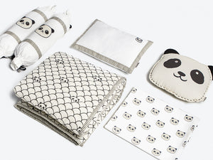 Organic Cotton Cot Bedding Set – Peekaboo Panda