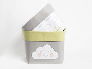 Fabric Storage Baskets – Happy Cloud