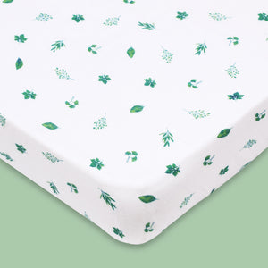Bamboo Muslin Fitted Cot Sheet – Tropical Vibes Only