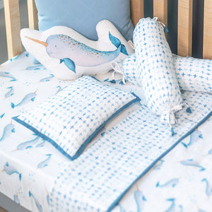 Bamboo Muslin Cot Bedding Set – Believe in Narwhals