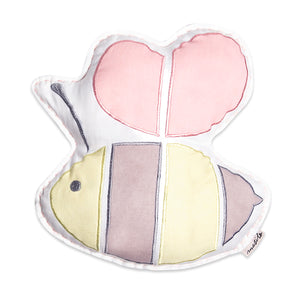 Organic Shape Cushion – Buzzing Bee