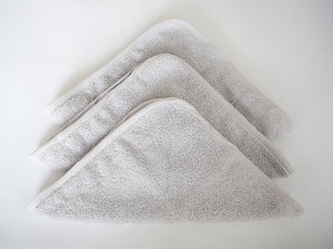 Terry Towel Washcloth Set (Pack of 3) (Silver Grey)