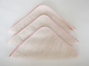Organic Terry Towel Washcloths (Set of 3) – Blush Pink