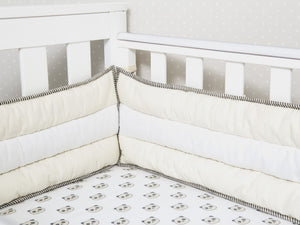 Quilted Cot Bumper – Cream