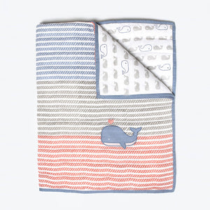 Quilted Blanket – Mama Whale