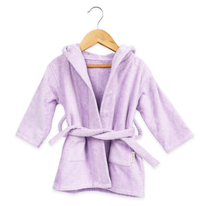 Hooded Baby Robe – Lilac