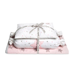 Mini Cot Set – Sleepy Star (Pink)