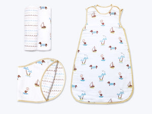'Puppy Paradise' Hush Little Baby Organic Muslin Bundle