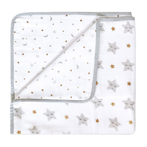 Organic Cot Bedding Set – Sleepy Star (Metallic)