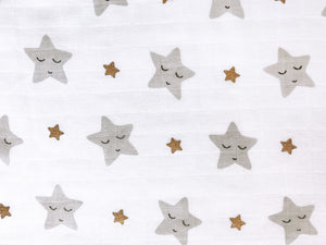 'Sleepy Star' Organic Muslin Classic Bibs (Pack of 3) (Gold)